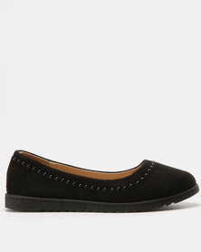 Solle Studded Flats Black MF