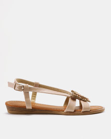 Solle Butterfly Sandals Beige