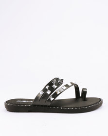 Candy Studded Slip On Sandals Pewter