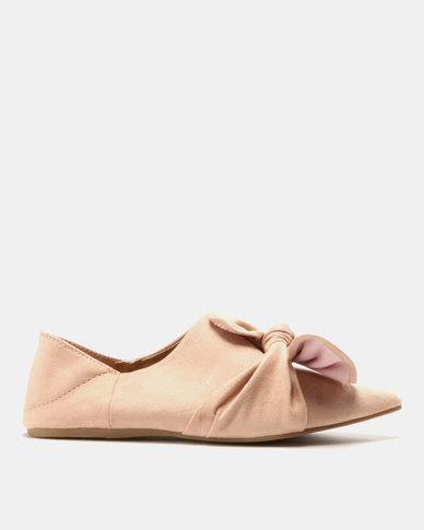 AWOL Bow Trim Flats Pink