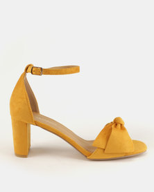 Urban Zone Ankle Strap Heels Mustard