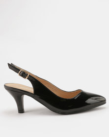 Urban Zone Kitten Heels Black Patent