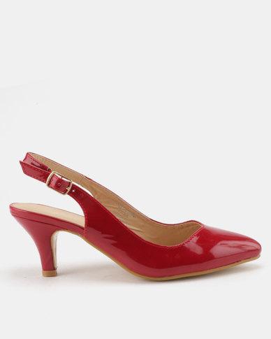 3bda9cfb649 Urban Zone Kitten Heels Red Patent