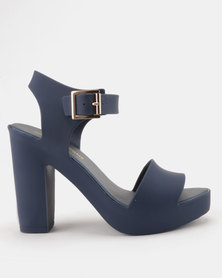 Urban Zone Silicon Heels Navy