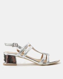 Urban Zone Metallic Heels Silver