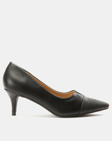 Urban Zone Court Heels Black