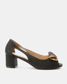 Urban Zone Cut Out Heels Black PU