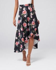 Forever New Belinda Wrap Skirt Exotic Bloom