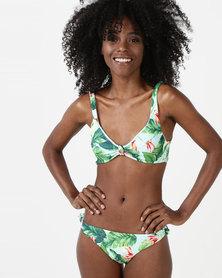 Women'secret Collection Swimwear Top Green