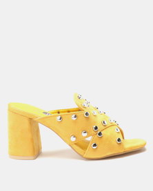 Dolce Vita Bellagio Slip On Heels Mustard
