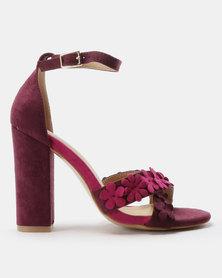 PLUM Floral Heels Berry