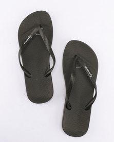 Ipanema Anatomica Tan Fem Flip Flops Black