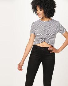 Utopia Knot T-Shirt Black/White Stripe