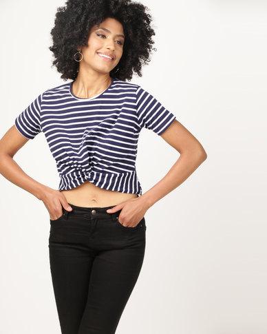 Utopia Knot T-Shirt Navy/White Stripe