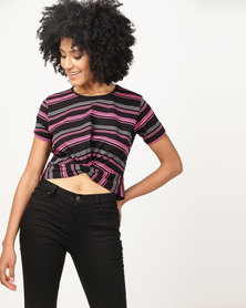 Utopia Knot T-Shirt Multi Stripe