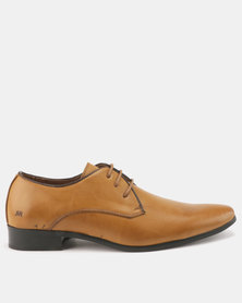 Malero Formal Lace Up With Topline Piping Tan