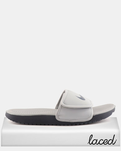 48248d14ae86 Nike Kawa Adjust Slides Grey Wolf
