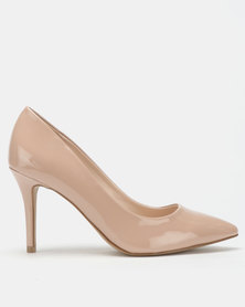Bata Red Label Patent Court Heels Nude