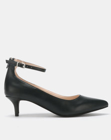 Bata Red Label Patent Court Heels Black