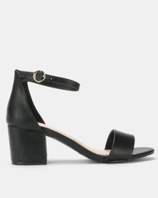 Bata Red Label Block Heel Sandals Black