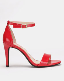 Bata Red Label Stiletto Sandals Red