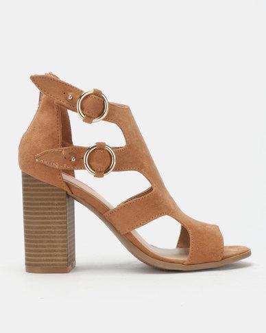 c80f7ba16fa8 Bata Red Label Block Heel Gladiator Sandals Brown