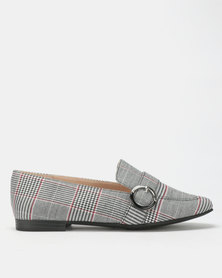 Bata Red Label Buckle Trim Loafers Grey