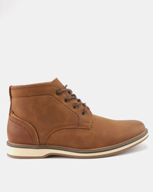 Bata Red Label Casual Lace Up Boots Tan