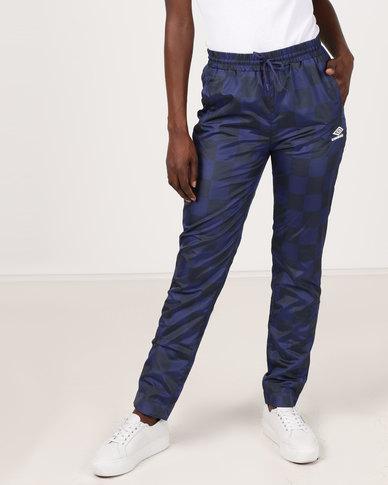 Umbro X Misguided  Rio Track Pants Patriot Blue