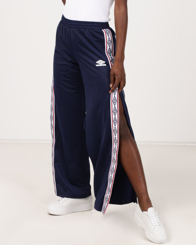 Umbro X Misguided Taped Tricot Track Pants Patriot Blue