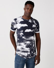 Cutty Concored Printed T-Shirt Blue