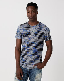 Cutty Punch Stripe T-Shirt Blue