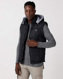 Cutty Control Hooded Puffer Gilet Black
