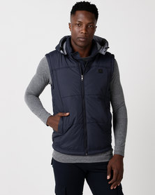 Cutty Control Hooded Puffer Gilet Navy