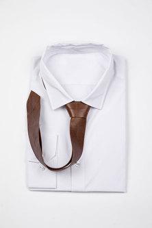 JCclick Leather Tie Brown