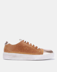Angelsoft  Amy Leather Sneakers Rosegold/Tan