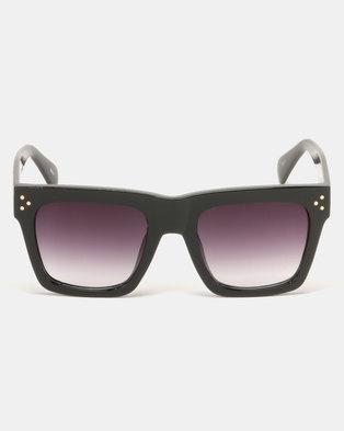 G Couture Thick Rims Sunglasses Black