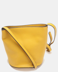 G Couture Big Bobble Crossbody Bag Yellow
