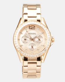Fossil Riley Watch Rose Gold