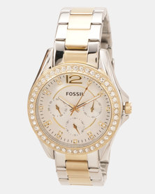 Fossil Riley Watch Two Tone