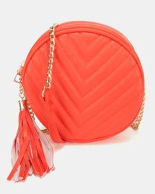 All Heart Circular Cross Body Bag Orange