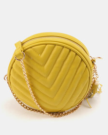 All Heart Circular Crossbody Bag Mustard