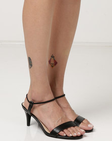Utopia Low Heel Barely There Heels Black