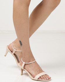 Utopia Low Heel Barely There Heels Nude