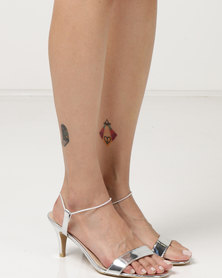 Utopia Low Heel Barely There Heels Silver