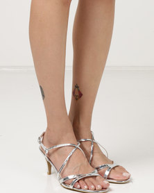 Utopia Strappy Heel Sandals Silver