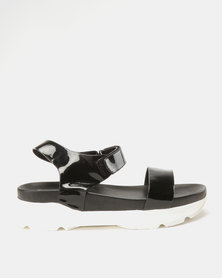 Utopia Sporty Sandals Black
