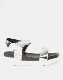 Utopia Sporty Sandals Silver