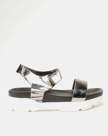 Utopia Sporty Sandals Pewter