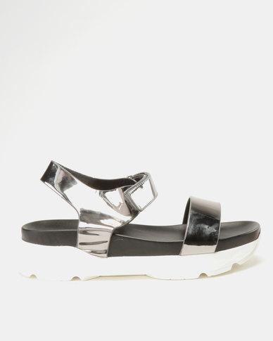 Utopia Sporty Sandals Pewter